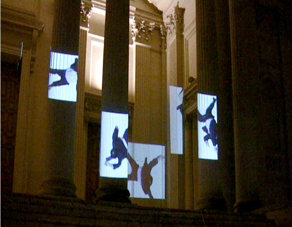 Pound, 2009 Video projection, installation view, British School at Rome