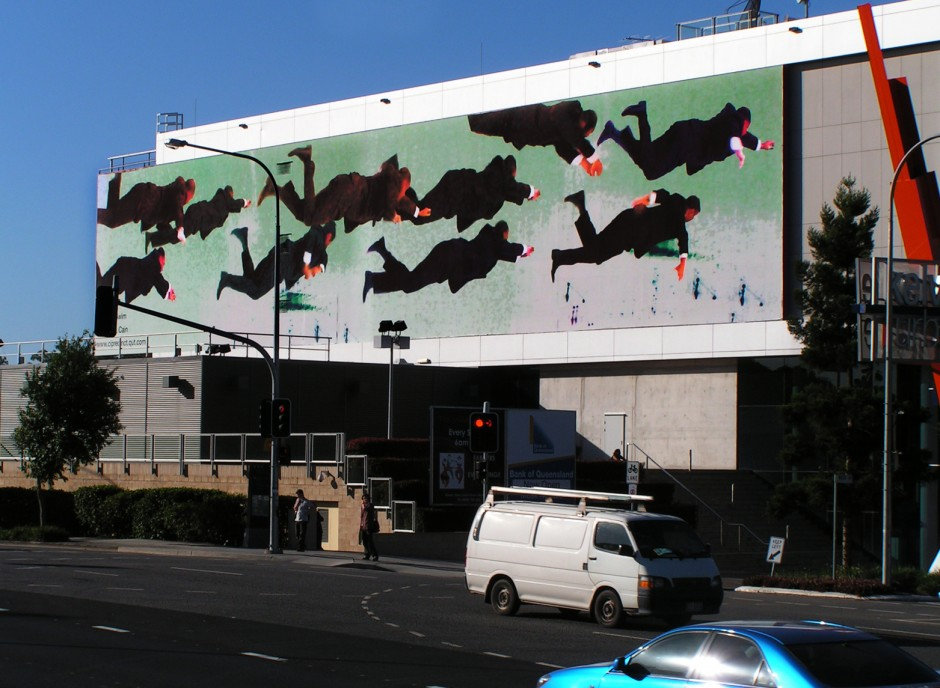 Sink or Swim, 2008 Digital print on coated paper. Installation view, QUT Billboard, Brisbane.
